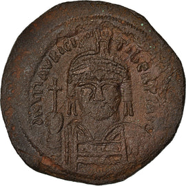 Coin, Maurice Tiberius, Follis, 589-590, Constantinople, EF(40-45), Copper