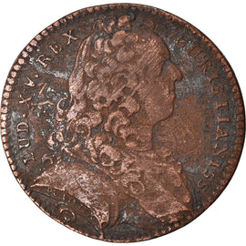 France, Token, Royal, Louis XV, Parties Casuelles, 1736, VF(20-25), Copper