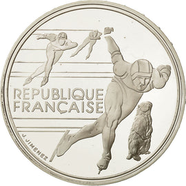Coin, France, 100 Francs Olympics, 1990, MS(65-70), Silver, KM 980