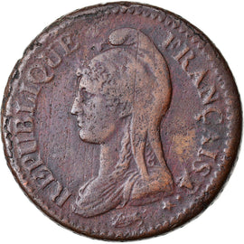 Coin, France, Dupré, Decime, AN 5, Paris, VF(30-35), Bronze, KM:644.1