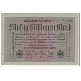 Banknote, Germany, 50 Millionen Mark, 1923, 1923-09-01, KM:109a, UNC(63)