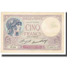 France, 5 Francs, Violet, 1933, P. Rousseau and R. Favre-Gilly, 1933-03-02