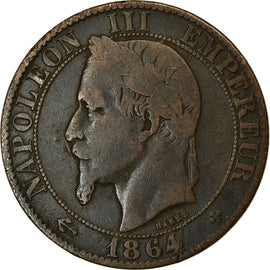 Coin, France, Napoleon III, 5 Centimes, 1864, Strasbourg, VF(30-35), KM 797.2