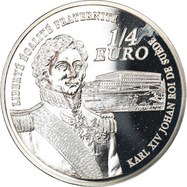 France, 1/4 Euro, Bernadotte, 2006, BE, MS(65-70), Silver, KM:1445
