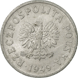 Coin, Poland, 50 Groszy, 1949, Warsaw, EF(40-45), Aluminum, KM:44a