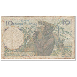 Banknote, French West Africa, 10 Francs, 1951-03-08, KM:37, F(12-15)