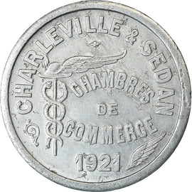 Coin, France, Chambre de Commerce, Charleville-Sedan, 10 Centimes, 1921