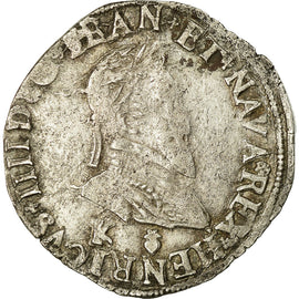 Coin, France, Demi Franc, 1595, Bordeaux, VF(30-35), Silver, Sombart:4748