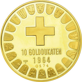 Switzerland, Medal, Bern, 10 Golddukaten, 1964, MS(63), Gold