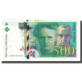 France, 500 Francs, Pierre et Marie Curie, 1994, Undated (1994), EF(40-45)
