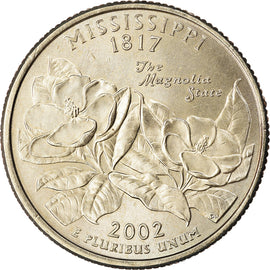 Coin, United States, Mississippi, Quarter, 2002, U.S. Mint, Philadelphia