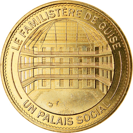 France, Token, 02/ Le Familistère de Guise, 2019, MDP, MS(63), Cupro-nickel
