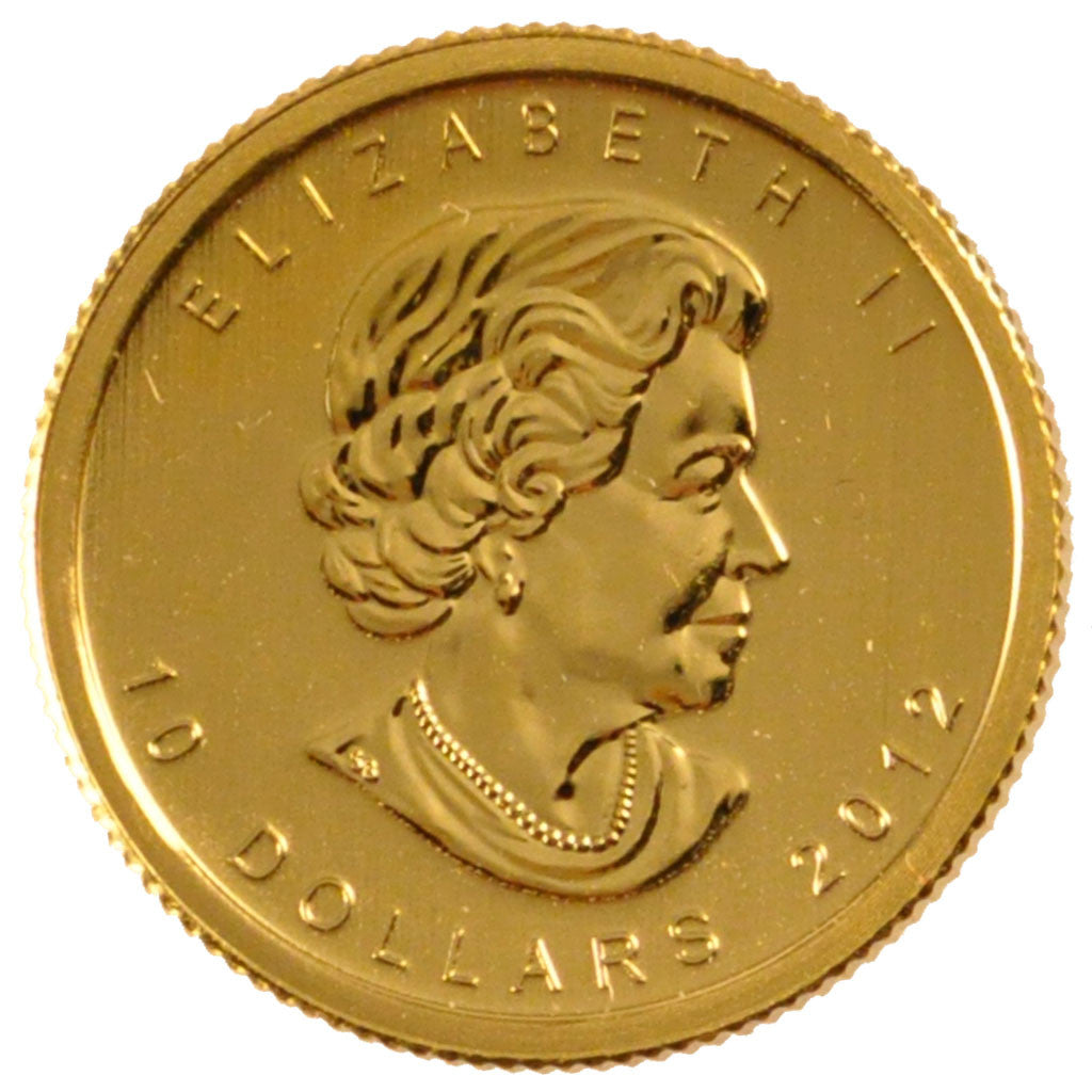 CANADA, 10 Dollars, 2012, Royal Canadian Mint, KM #1211, MS(65-70), Gold, 20,...