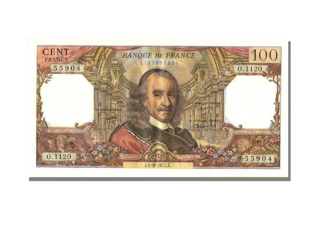 France, 100 Francs, 100 F 1964-1979 ''Corneille'', 1977, KM #149s, 1977-09-01,..