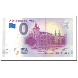 France, Tourist Banknote - 0 Euro, 75/ Paris - La Conciergerie - Centre des