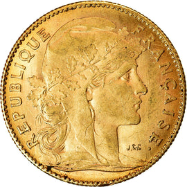 Coin, France, Marianne, 10 Francs, 1911, Paris, AU(55-58), Gold, KM:846