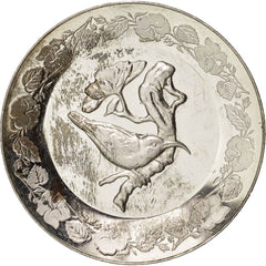 France, BIrd, Fauna, Medal, AU(55-58), Silver, 25