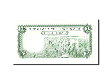 Banknote, Gambia, 10 Shillings, 1965, Undated, KM:1a, UNC(65-70)