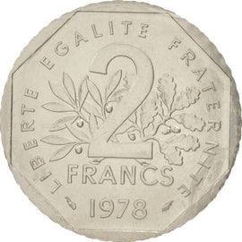 Coin, France, 2 Francs, 1978, MS(65-70), Nickel, KM:E119, Gadoury:547