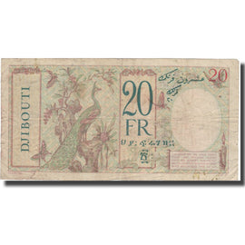 Banknote, French Somaliland, 20 Francs, Undated (1942), KM:12a, VF(30-35)