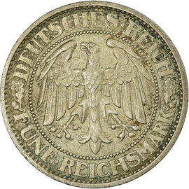 Coin, GERMANY, WEIMAR REPUBLIC, 5 Reichsmark, 1927, Berlin, AU(50-53), Silver