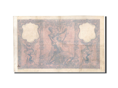 France, 100 Francs, 100 F 1888-1909 ''Bleu et Rose'', 1893, KM:65b, 1893-04-2...