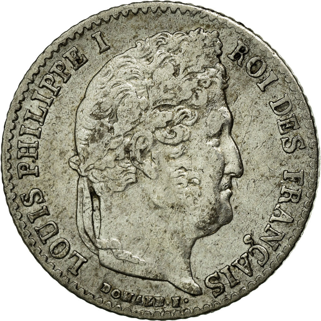 Coin, France, Louis-Philippe, 1/4 Franc, 1836, Paris, AU(50-53), Silver