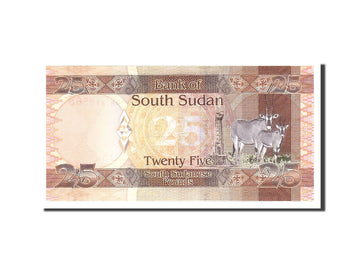 South Sudan, 25 Pounds, 2011, Undated, KM:8, UNC(65-70)