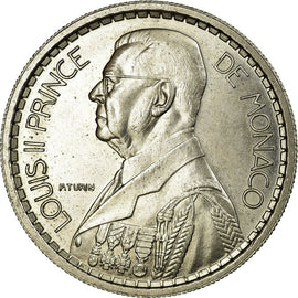 Coin, Monaco, 10 Francs, 1945, MS(60-62), Copper-nickel, Gadoury:136