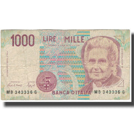 Banknote, Italy, 1000 Lire, KM:114a, VG(8-10)
