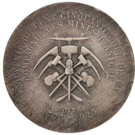 France, Medal, Compagnie des Mines d'Aniche, Business & industry, 1923