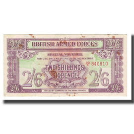Banknote, Great Britain, 2 Shillings - 6 Pence, KM:M19a, EF(40-45)