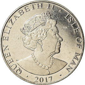 Coin, Isle of Man, 10 Pence, 2017, Pobjoy Mint, MS(63), Nickel plated steel