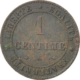 Coin, France, Cérès, Centime, 1872, Bordeaux, VF(20-25), Bronze, KM:826.2