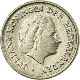 Coin, Netherlands, Juliana, 10 Cents, 1954, VF(30-35), Nickel, KM:182