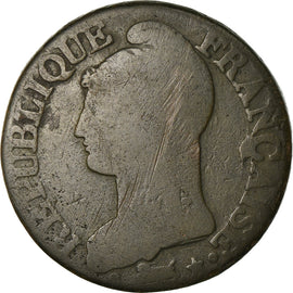 Coin, France, Dupré, 5 Centimes, AN 5, Paris, F(12-15), Bronze, KM:640.1