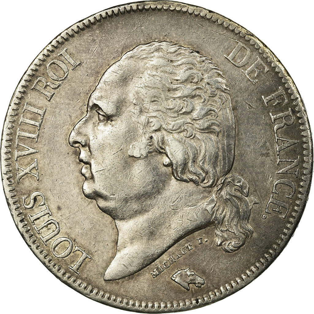 Coin, France, Louis XVIII, Louis XVIII, 5 Francs, 1822, Paris, EF(40-45)