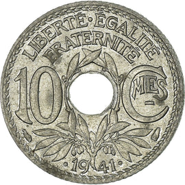 Coin, France, 10 Centimes, 1941, Paris, EF(40-45), Zinc, KM:897, Gadoury:288
