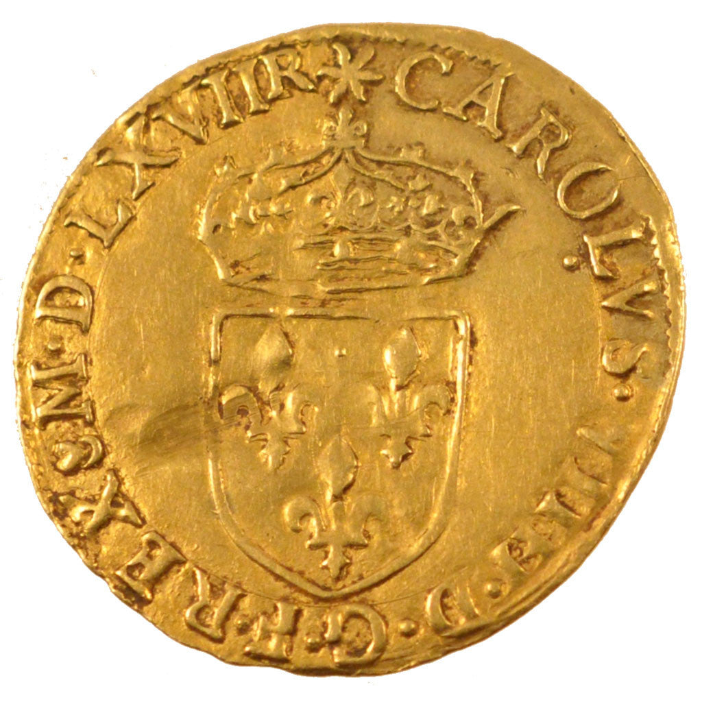 Coin, France, Ecu d'or, 1567, Toulouse, EF(40-45), Gold, Duplessy:1057
