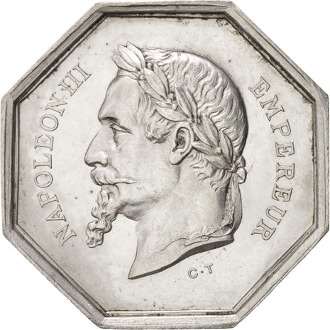 France, Ministry of Commerce, Token, AU(55-58), Silver, 8.80