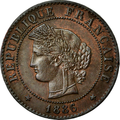 Coin, France, Cérès, Centime, 1886, Paris, AU(55-58), Bronze, Gadoury:88