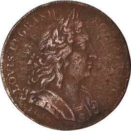 France, Token, Louis XIV, Ordinaire des Guerres, VF(30-35), Copper