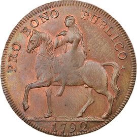 Coin, Great Britain, Warwickshire, Halfpenny Token, 1792, Coventry, MS(63)