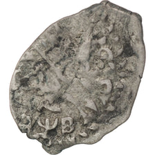 Coin, Russia, 1 Kopek, 1702, Moscow, EF(40-45), Silver