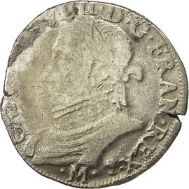 Coin, Charles IX, Teston, 1573, Toulouse, VF(20-25), Silver, Sombart 4604