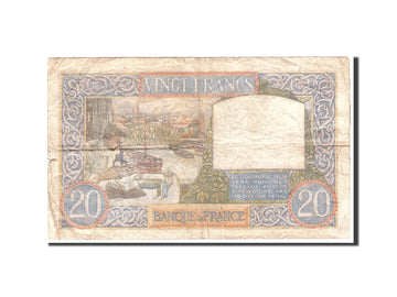 Banknote, France, 20 Francs, 1941, 1941-08-28, VF(20-25), KM:92b