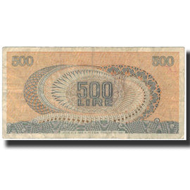Banknote, Italy, 500 Lire, 1967-10-20, KM:93a, VG(8-10)