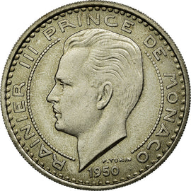 Coin, Monaco, 100 Francs, 1950, AU(55-58), Copper-nickel, Gadoury:142