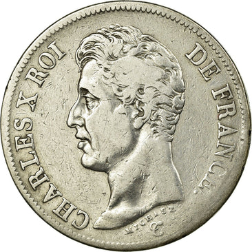 Coin, France, Charles X, 5 Francs, 1826, Paris, VF(30-35), Silver, Gadoury:643