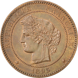 FRANCE, Cérès, 10 Centimes, 1895, Paris, KM #815.1, AU(55-58), Bronze, Gadoury #